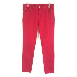 Kut From The Kloth Diana Skinny Hi Rise Red Jeans